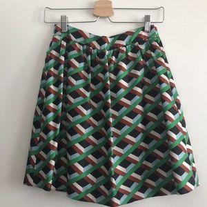 J. Crew Geometric Design Mini Skirt